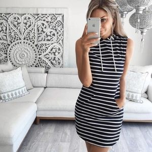 Other - Drawstring hooded dress summer